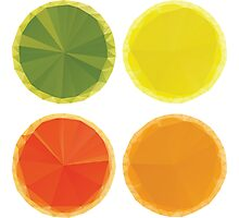 Geometric Fruit Slices Photographic Print