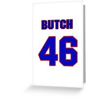 National baseball player Butch Davis jersey 46 Greeting Card