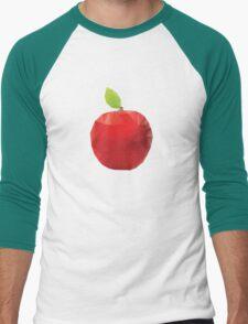 Geometric Red Apple Men's Baseball ¾ T-Shirt