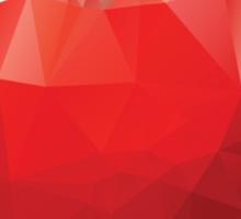 Geometric Red Apple Sticker