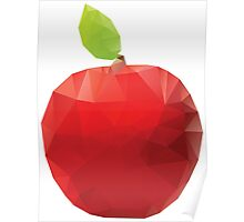 Geometric Red Apple Poster