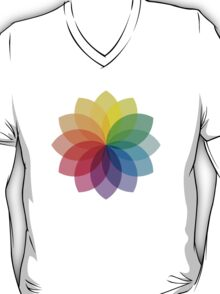 Abstract colorful flower design T-Shirt
