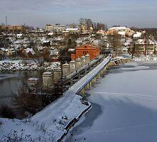 Sabarov Dam Vinnitsa at Winter by fine