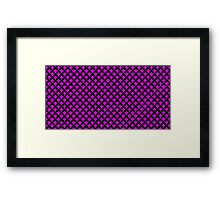 geometric abstract pattern green and black background illustration Framed Print