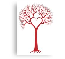 red love tree with heart branches Canvas Print