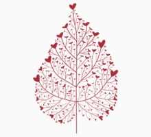 red heart leaf Kids Clothes