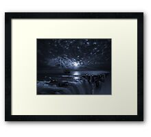Final Frontier Voyager (FES) The Flat Earth Society Framed Print