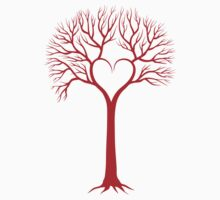 red love tree with heart branches Kids Clothes