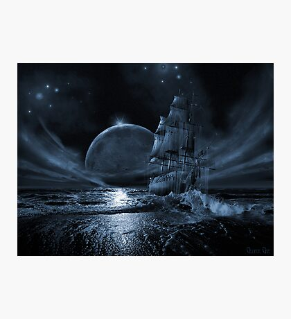 Ghost ship series: Full moon rising Photographic Print
