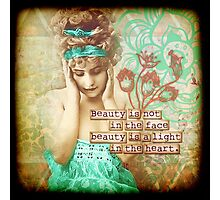 Beauty is a Light Photographic Print