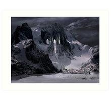 Sanctuary or snow mountain enter Art Print