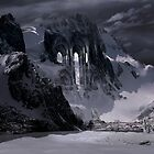 Sanctuary or snow mountain enter by George Grie