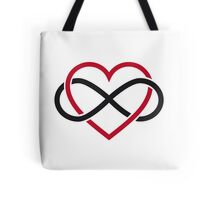 Infinity heart, never ending love Tote Bag