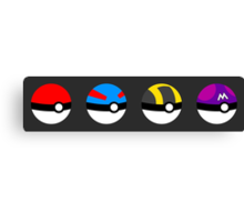 Poke Ball Hierarchy  Canvas Print