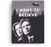 I Want to Believe X Files Canvas Print