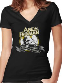 Abe Froman Women's Fitted V-Neck T-Shirt
