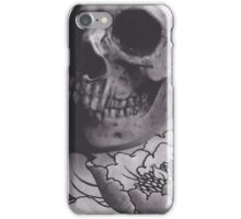 Skull with Peony iPhone Case/Skin