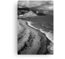 SIDMOUTH SHORELINE Canvas Print