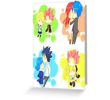Fairy Tail Chibi  Greeting Card