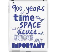 doctor who - 900 years of time and space iPad Case/Skin
