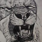 Lion Sketch by DreddArt