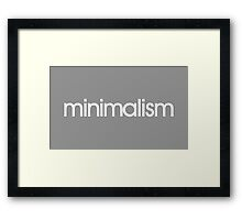 minimalism (white) Framed Print