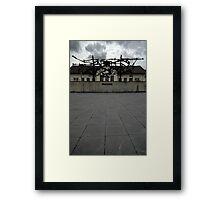 A dark reminder Framed Print