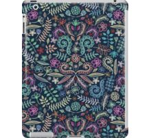 Colored Chalk Floral Doodle Pattern iPad Case/Skin