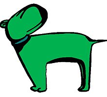 Green Dog by kwg2200