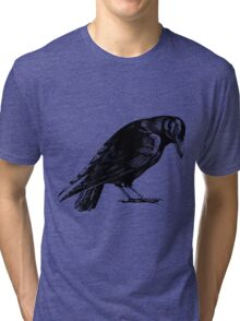 Black Crow or Raven Tri-blend T-Shirt
