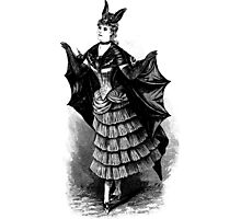 Victorian Bat Girl Costume Photographic Print