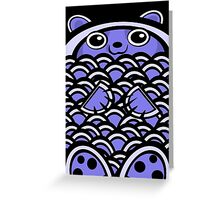 Blue Asian Bear Greeting Card