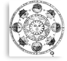 Medieval Astronomical Chart of Planets Canvas Print