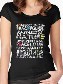 all abut words  Women's Fitted Scoop T-Shirt