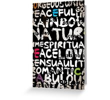 all abut words  Greeting Card