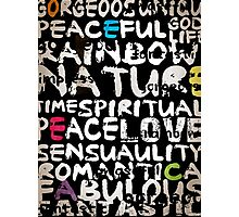 all abut words  Photographic Print