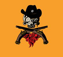 Cowboy Skull Womens Fitted T-Shirt
