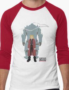 Fullmetal Alchemist Brotherhood | Minimalist Elric Brothers Men's Baseball ¾ T-Shirt