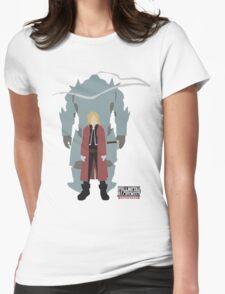 Fullmetal Alchemist Brotherhood | Minimalist Elric Brothers Womens Fitted T-Shirt