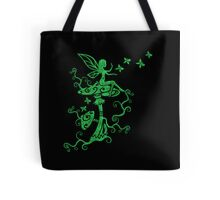 Fairy, Magic Mushrooms, Butterflies, Fantasy Tote Bag