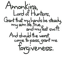 Thane's Prayer to Amonkira Photographic Print