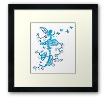Fairy, Magic Mushrooms, Butterflies, Fantasy Framed Print