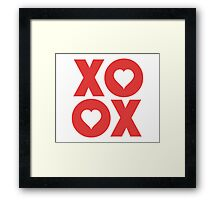 XOXO Hugs and Kisses Valentine's Day Framed Print