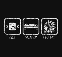 Eat, sleep, hunt. by Kikacch