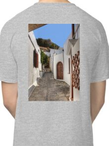 Residental Street in Lindos Classic T-Shirt