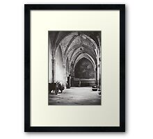Inside the Cathedral of Saint Mary of Toledo, Spain Framed Print