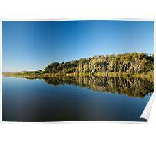 Blue Mirror Lake Poster