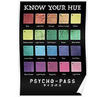 Psycho Pass - Hues Poster
