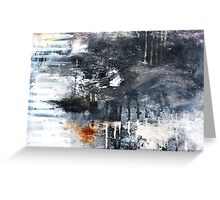 Black and White Abstract Print  Greeting Card