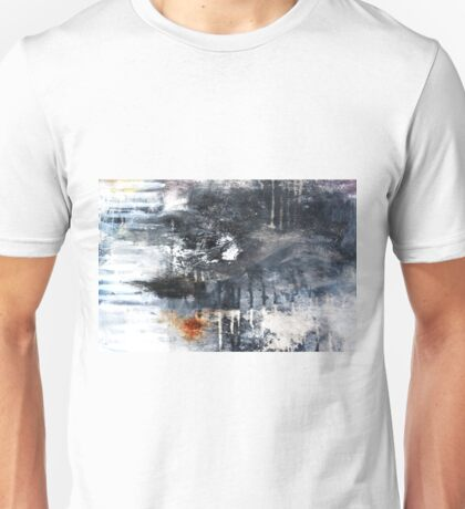 Black and White Abstract Print  Unisex T-Shirt